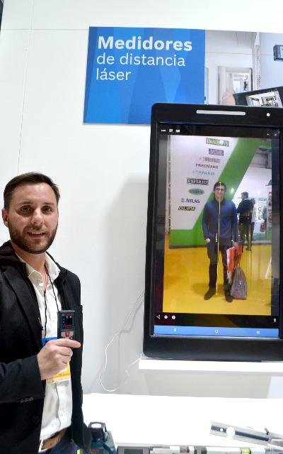 Emiliano Sequeira en el stand de BOSCH - ExpoFerretera 2017