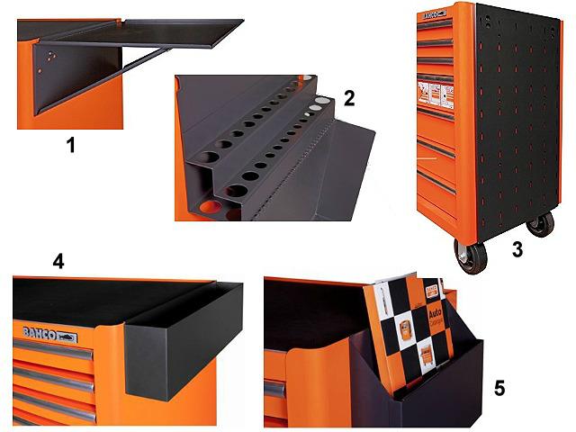 Mesas y organizadores laterales - Carro de herramientas