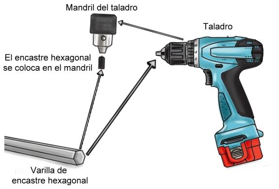 Varilla - Mezclador de pintura en taladro