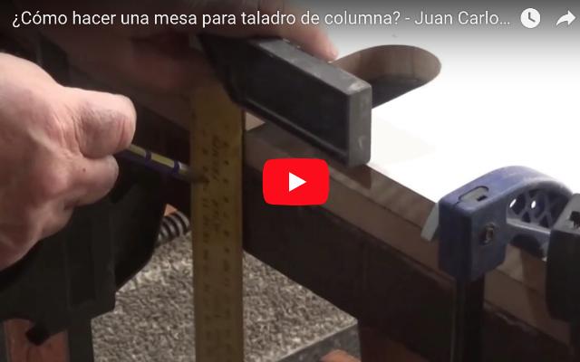 Cómo hacer una mesa para taladro de columna