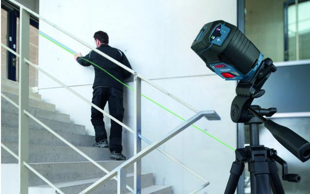 Líneas oblicuas - nivel láser de líneas verdes