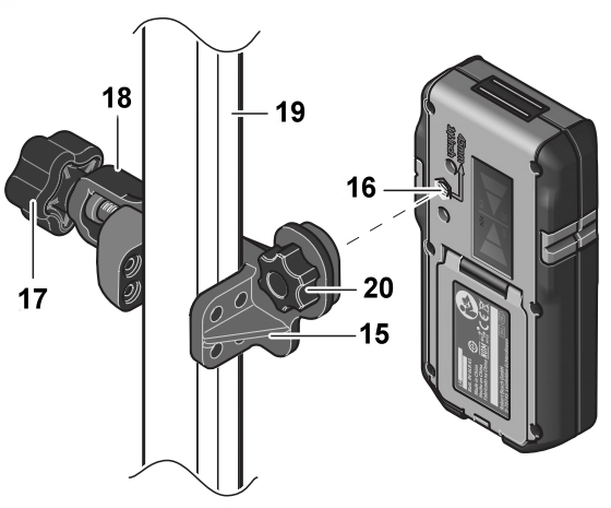 Abrazadera de montaje de receptor - componentes