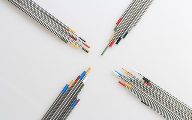 colores en el electrodo