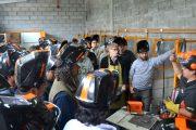 Aprender y perfeccionar el oficio del soldador: Lusqtoff y sus jornadas de capacitación