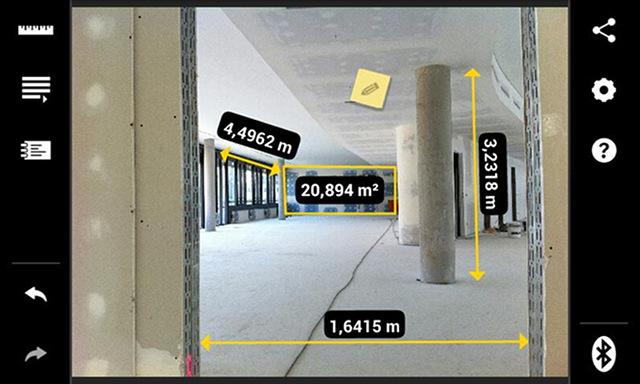 Conectividad: documentación y gestión de datos de medidor de distancia láser