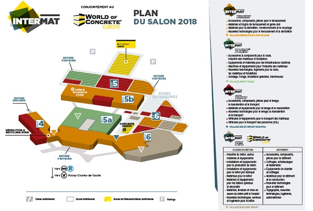 Intermat 2018 París - Plano