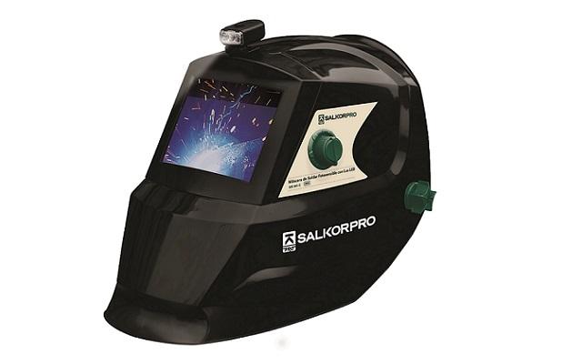 Máscara de soldar fotosensible con lámpara LED