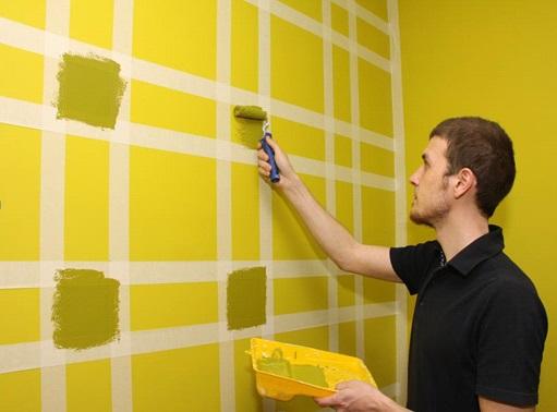 Cómo encintar la pared antes de pintar