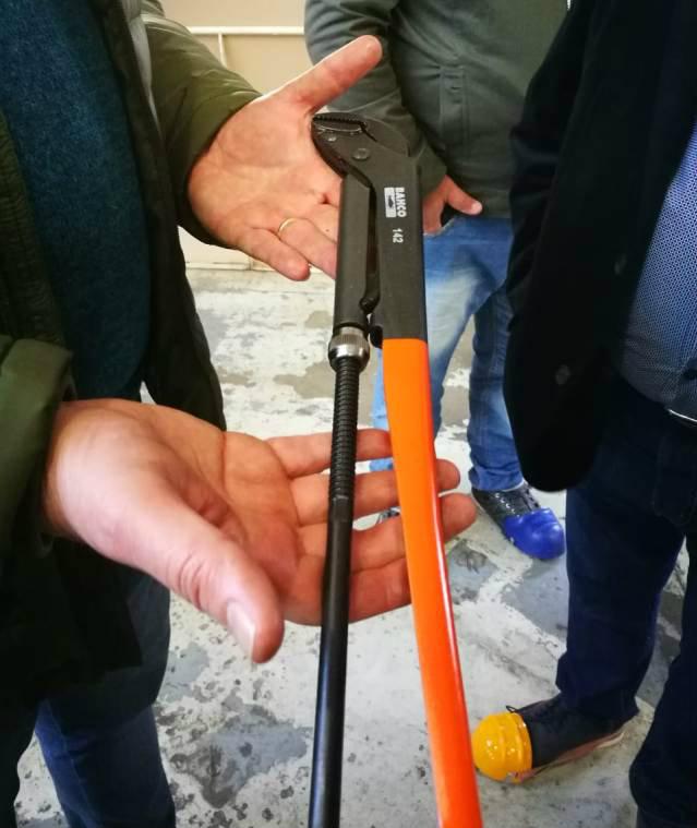 Llave para caño recién fabricada