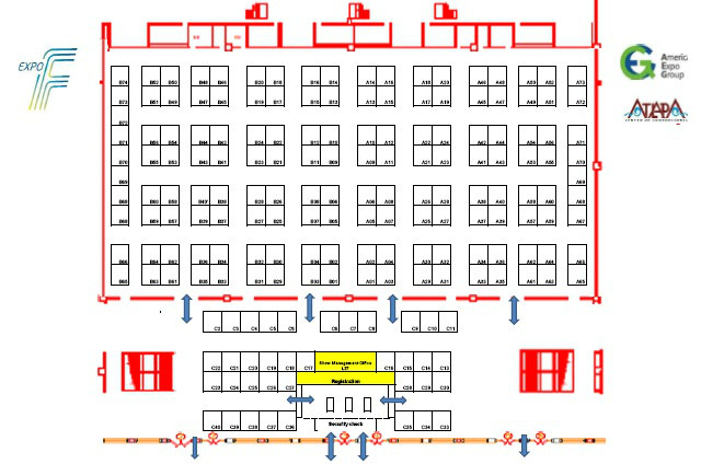 Expo F Feria Internacional Ferretera Panamá - Plano