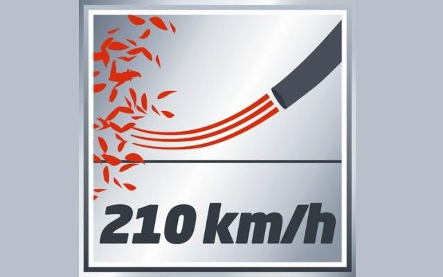 Soplador GE-CL 18 Li de Einhell - Velocidad de soplido