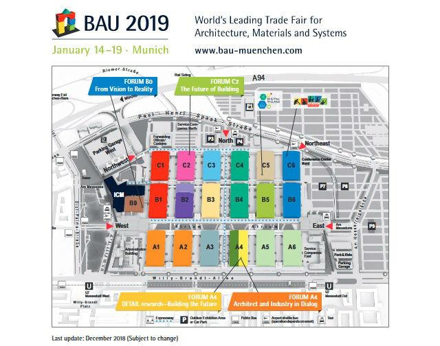BAU 2019 Munich - Plano