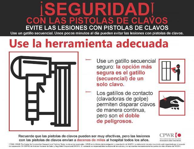 Seguridad en el uso de pistola clavadora - Herramienta segura