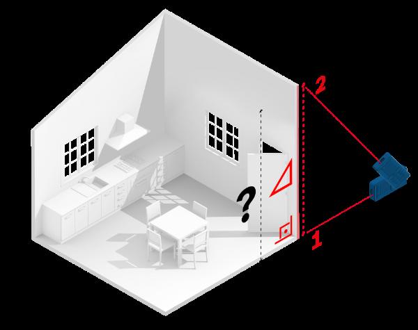 medir altura indirecta con medidor laser