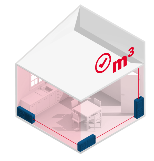 medir volumen con medidor laser