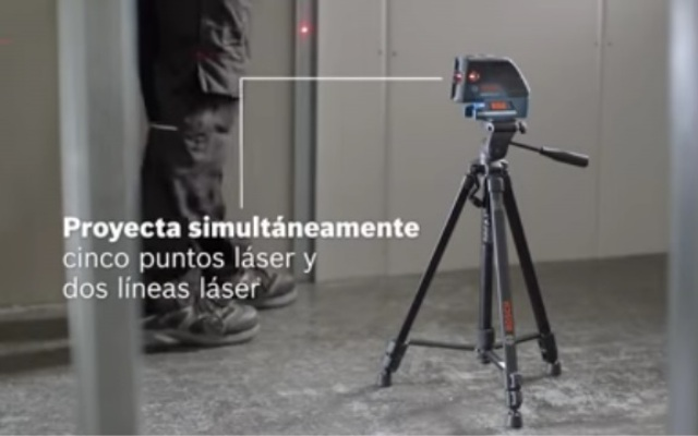 Nivel laser de puntos y líneas