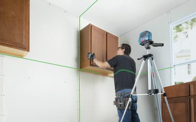 Nivel láser - Instalación de muebles