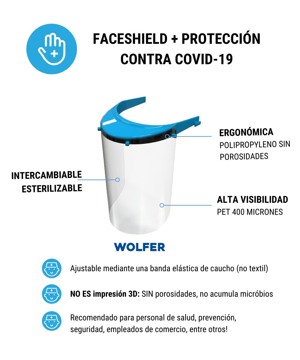 Máscara FaceShield WOLFER